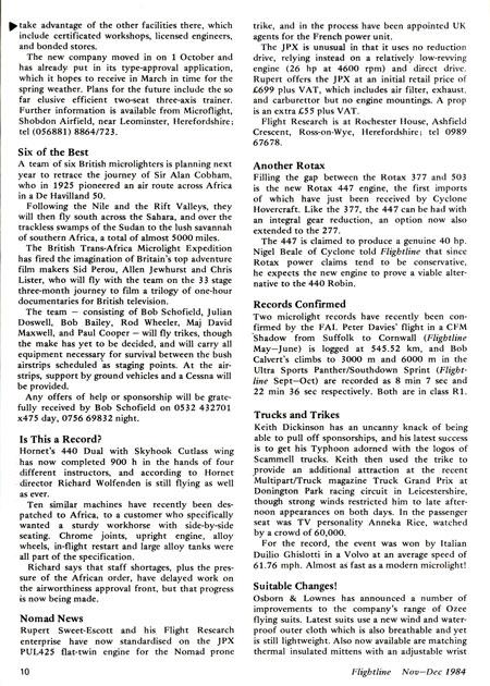 British Hang Gliding History  British Microlight Aircraft